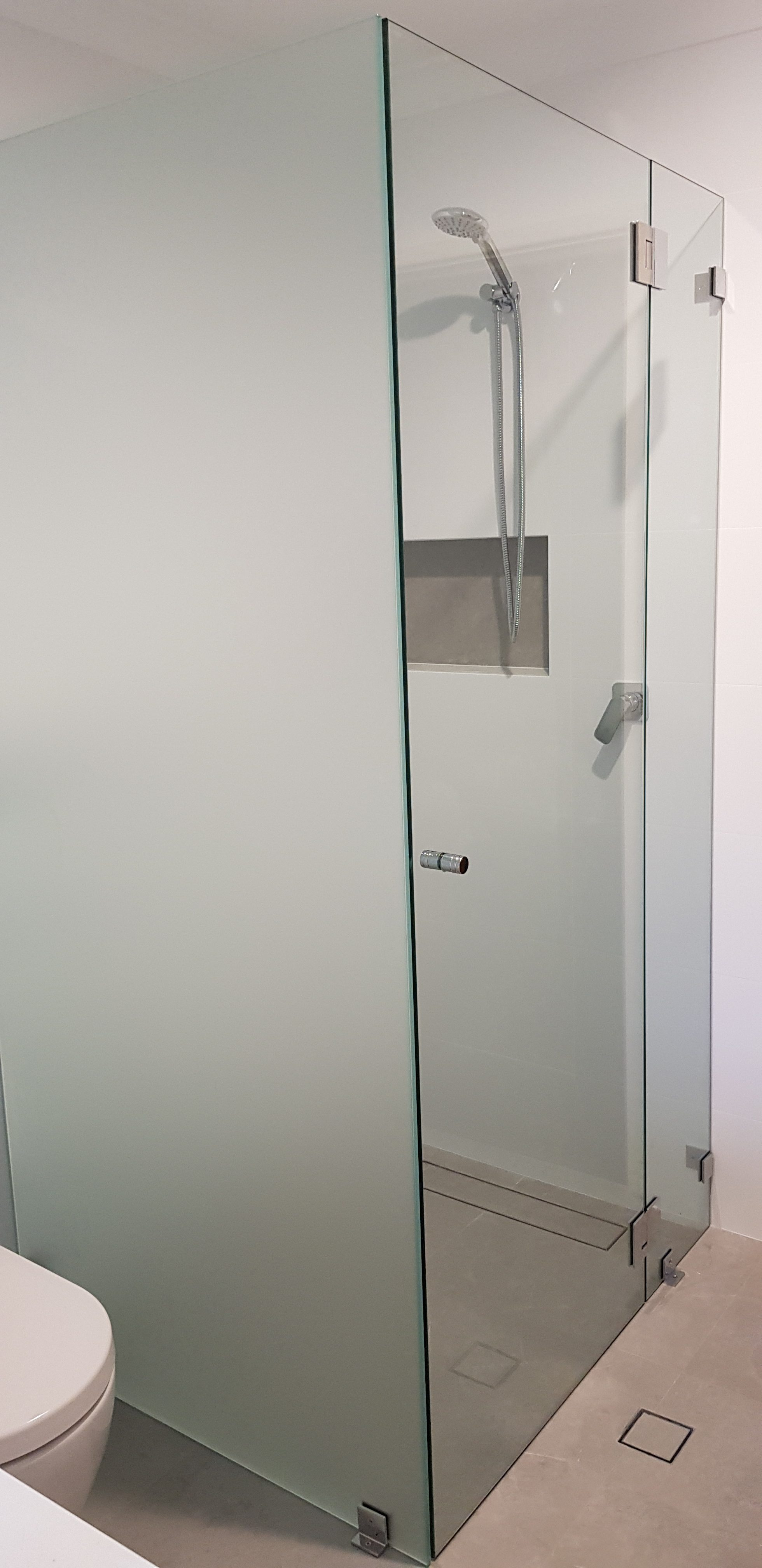 Frameless with Acid etched panel